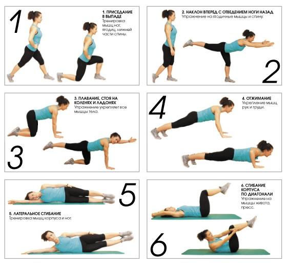 Комплексные Физические Упражнения Для Похудения. Упражнения для быстрого похудения в домашних условиях