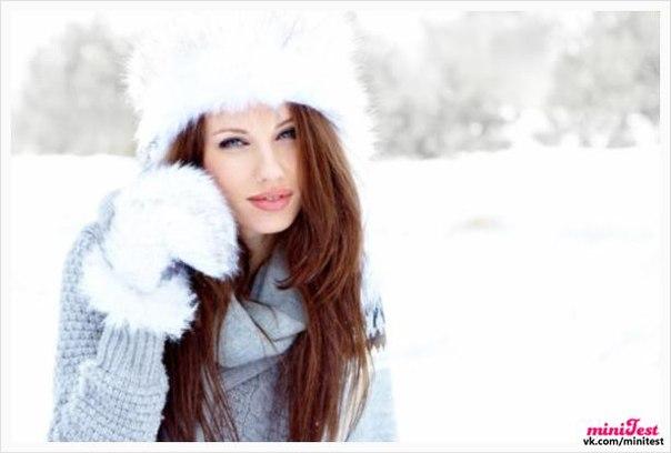 Обои На Рабочий Стол Девушка Зима