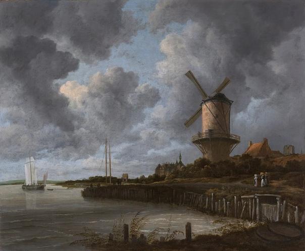 Якоб ван Рёйсдаль. Творчество этого художника выделяется особым взглядом на природу среди творений его знаменитых соотечественников в 17-м веке в самом значительном периоде нидерландской