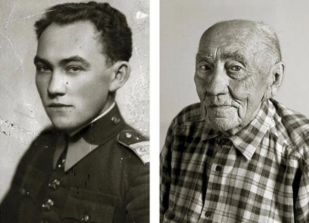 Фотопроект, показывающий людей в молодом возрасте и после того, как им исполнилось 100 лет Время уничтожает всё, включая внешность людей, и их самих. Всё начинается с мелких морщин,