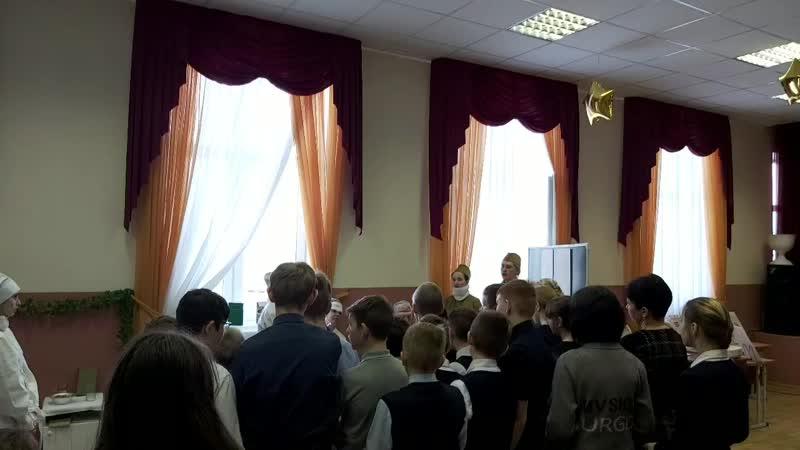 12.03 в актовом зале школе была развернута интерактивная музейная реконструкция...