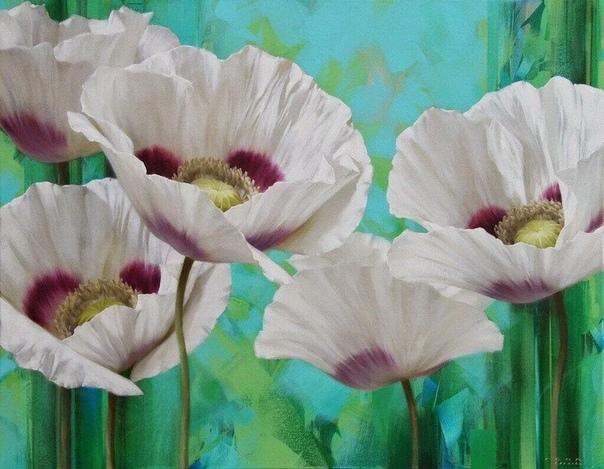 Цветы Игоря Левашева Современный художник, родом из России. Живёт в Нидерландах. Живописью Игорь занимается с детства. Но любовь именно к цветам, пришла к нему уже в зрелом возрасте. Сюжеты с