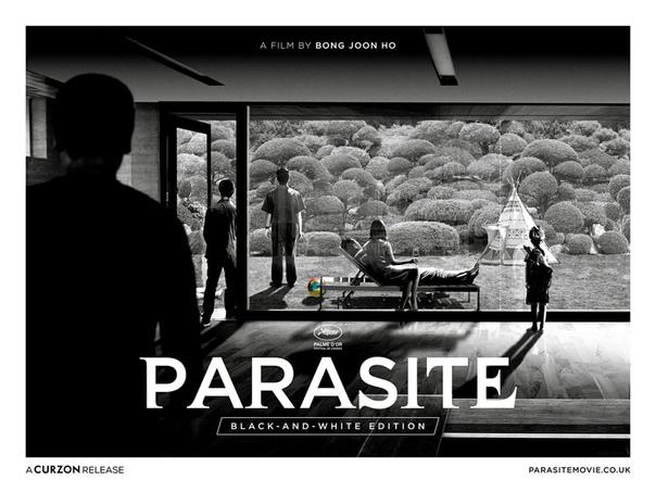 Новый чёрно-белый постер «Паразитов»
