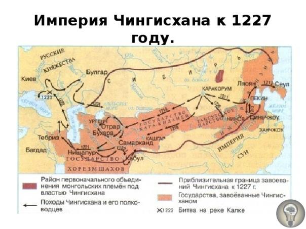 Битва на реке Калке и раздел монгольской империи