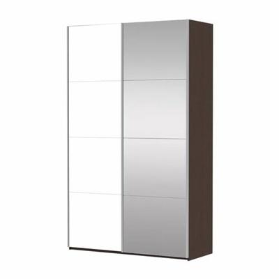 Шкаф Прайм 2-дверный (Фасад Зеркало/Белое стекло) ш 1600