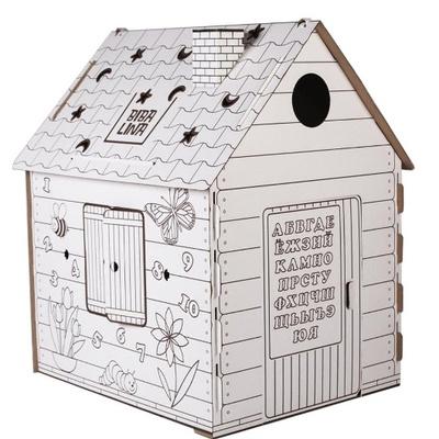 Дом-раскраска из картона