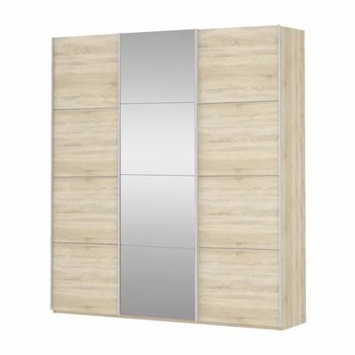 Шкаф Прайм 3-дверный (ДСП/Белое стекло) ш 2100
