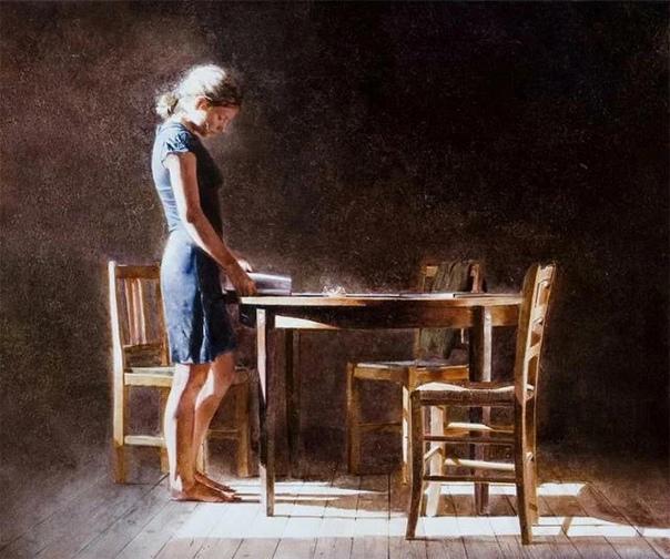 Чувственные и мечтательные картины Андрея Задорина. Андрей Задорин родился в Советской Белоруссии, село Березовка в 1960 году. Учился в Белорусском институте искусств, закончил его в 1984 году.