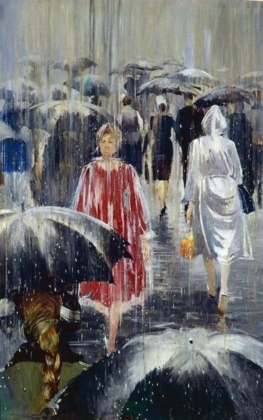 ...Я очень люблю дождь. Люблю это состояние природы, люблю ту свежесть, которая приходит с дождем. Люблю мокрые зонты, и их ритмическое движение по улицам. Люблю капли на ветках, которые нежно