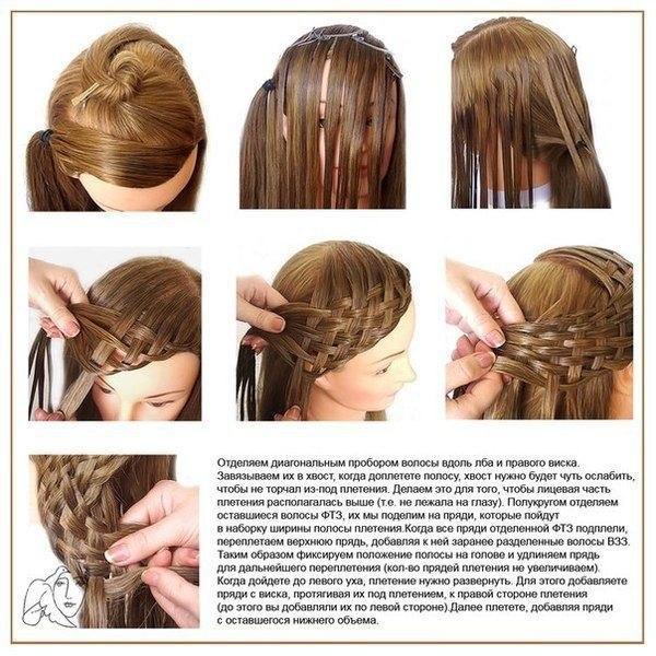 картинки пошаговое плетение из волос безымянном пальце хорошая